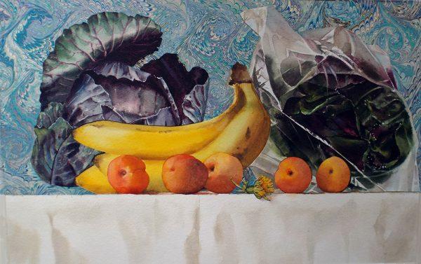 "bananas and dandelion  19"" x 12"""