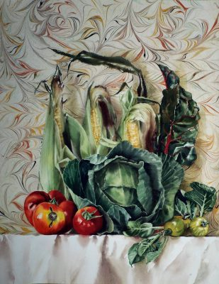 """cabbage and corn  24"""" x 18"""""""