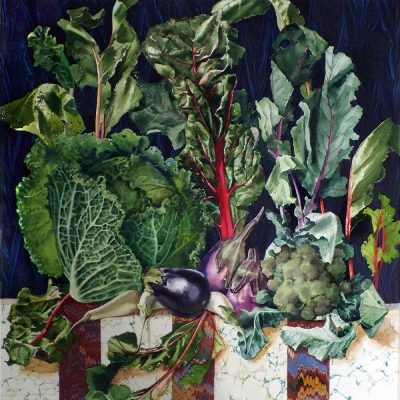 """cabbage and greens  19"""" x 20"""""""