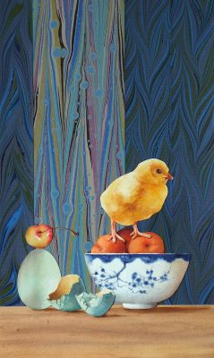 """chick and egg  15"""" x 9"""""""