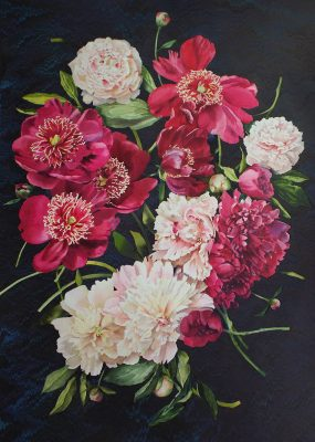 peonies in black