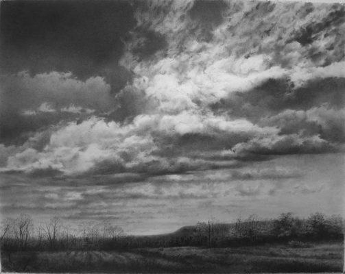 """cloudscape  graphite on paper 28"""" x 34"""""""